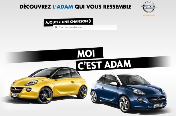 Opel Adam Marques et musiques