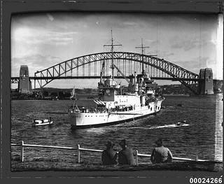 USS ASTORIA in Farm Cove, Sydney