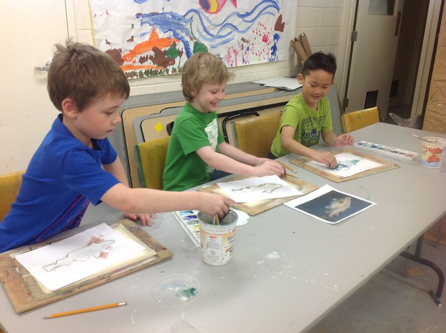 Painting With Water Colours at the Art Museum