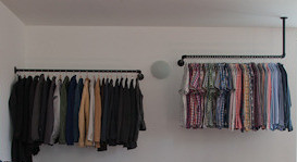 Open Pipe Closet