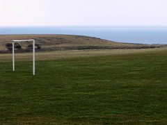 Goalpost at Chale, Isle of Wight