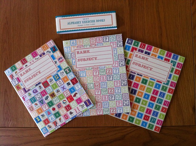 Alphabet exercise books