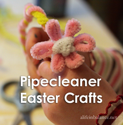 Pipe cleaner Easter Basket and Jewelry