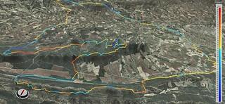 Corriols de la Portella - de la Serp - la Traca - i cap a Tous 3D