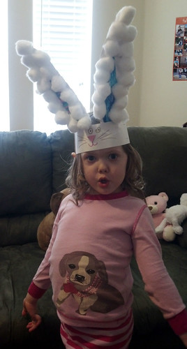 Easter bunny ear hat