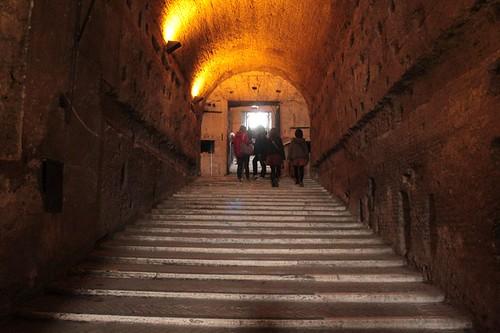 Castel Sant'Angelo: scalinata interna