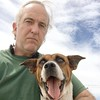Here's another picture of me and our new dog Eddie. This is both of us modeling our most serious look.