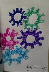 My #sketch #drawing of a bunch of gears.