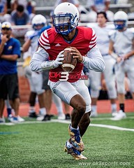 UTSA commit Frank Harris at the Clemens vs Madison Scrimmage #ok3sports #gobuffs #mavs #sportsphotography #nikonphotography
