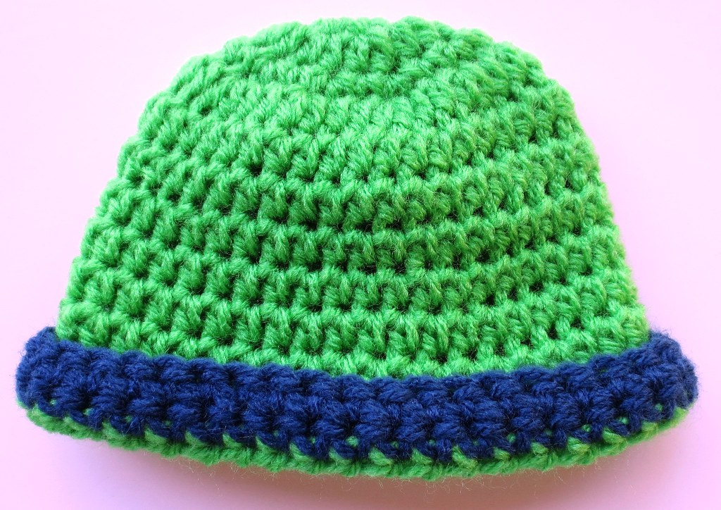 Rolled Brim Baby Hat Pattern My Recycled Bags