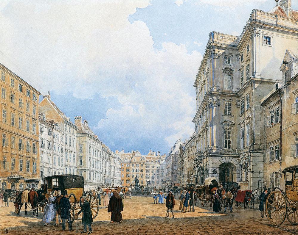 The Neue Markt (Mehlmarkt) by Rudolf von Alt, 1836