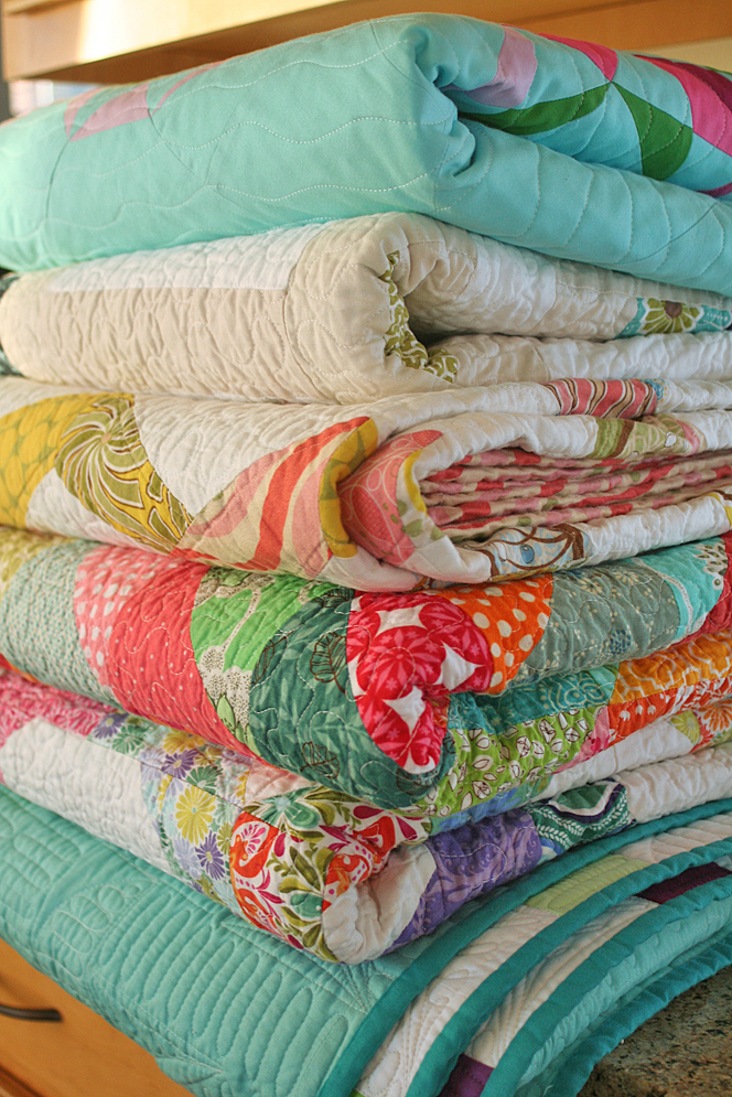 Stack of quilts!