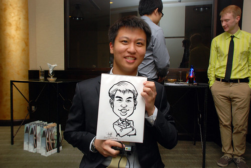 caricature live sketching for NUS - 6