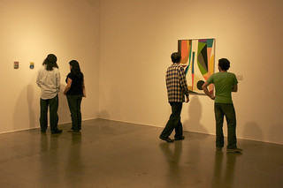 Students at Art After Hours at the Pomona College Museum of Art in 2010