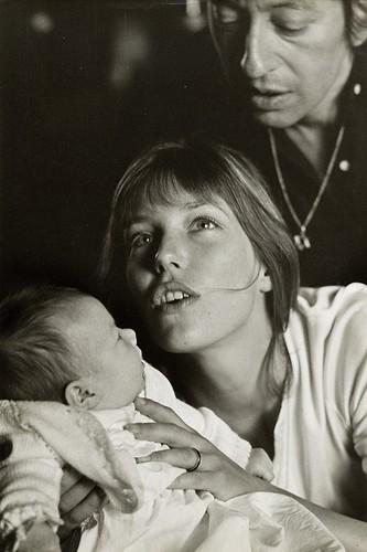 Jane Birkin, Serge Gainsbourg & baby Charlotte. Photography by Giancarlo Botti