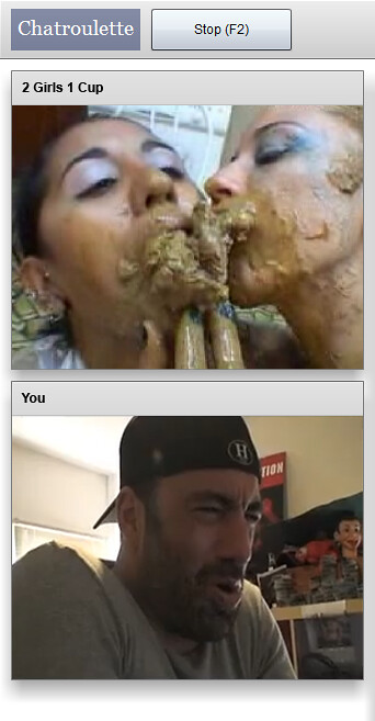 Fake Chatroulette Screenshot 2 Girls 1 Cup Vs Joe Rogan
