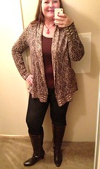 pattern, neck, brown, clothing, collar, sleeve, maroon, outerwear, fashion, cardigan, tights,