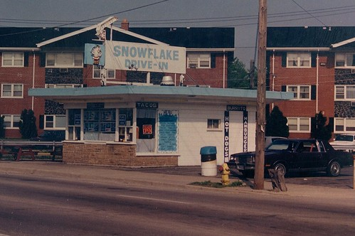 The Snowflake Drive In on Ogden Avenue. (Gone)  Lyons Illinois.  May 1989. by Eddie from Chicago