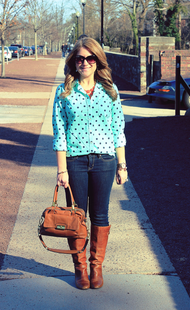 Polka Dots Outfit Perfect for Shopping