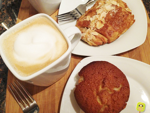 maison kayser chocolate almond croissant and financier