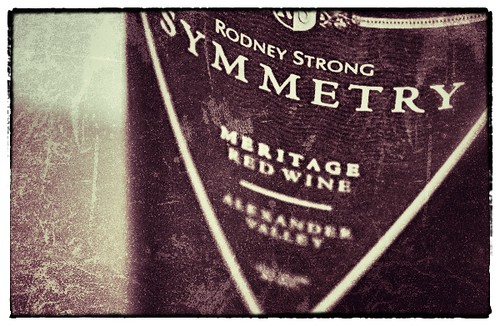 Picture of Rodney Strong Symmetry Wine Label.