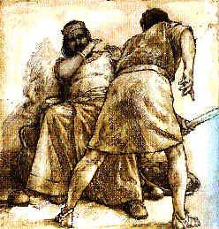 Ehud kills Eglon from Flickr via Wylio