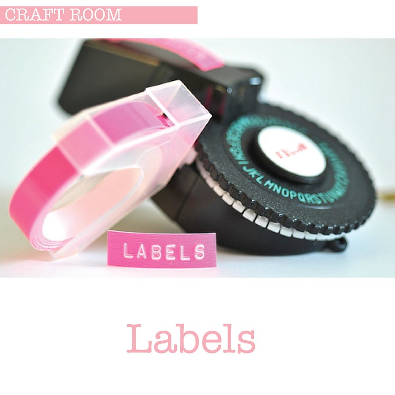 Neon pink Labels