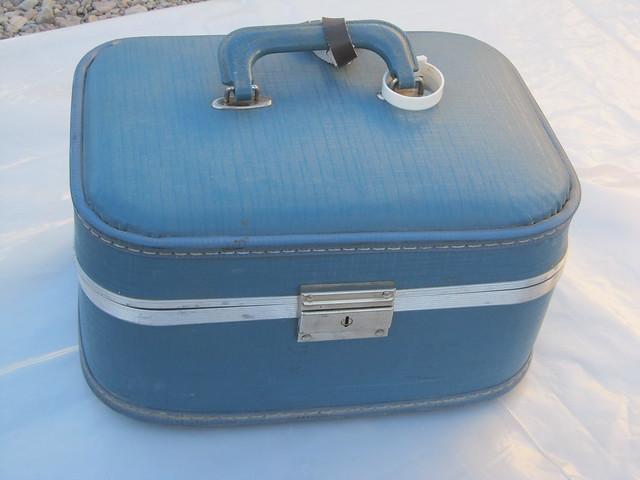 Vintage Train Case 1960s Antique Collectible For Sale