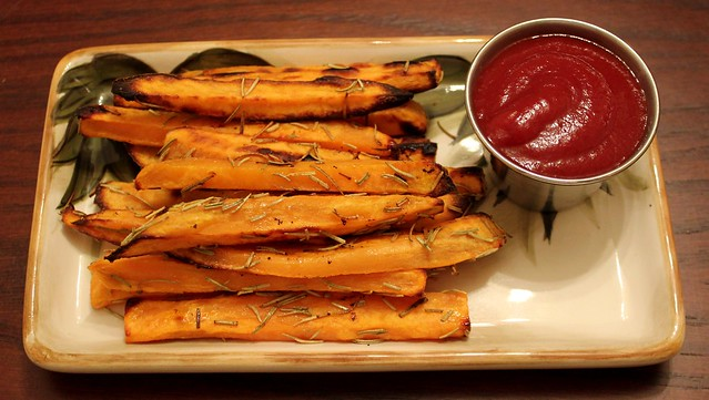 Baked Sweet Potato Fries With Rosemary and Parmesan | Flickr - Photo ...