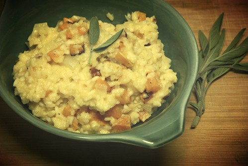 Butternut Squash Risotto with Green Apple