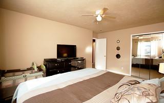 Master bedroom in Chenoweth Hills, Louisville KY