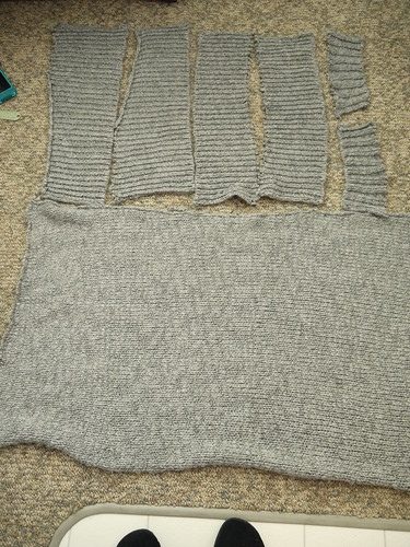 sweater disassembled
