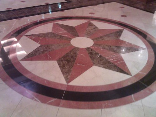 Marble and granite star insert