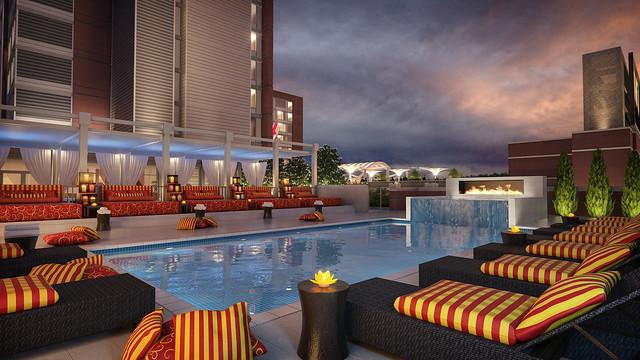 The westin birmingham pool deck rendering flickr - Hotels with swimming pools in birmingham ...