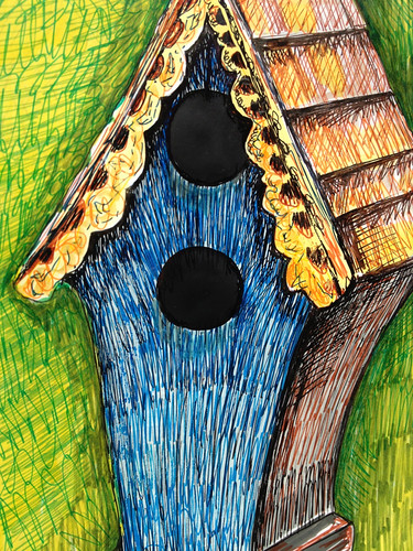 Bird residence by Michelle Schamis