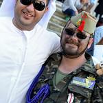 Disfraz árabe y militar