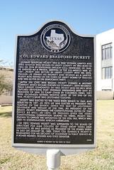 Photo of Edward Bradford Pickett black plaque
