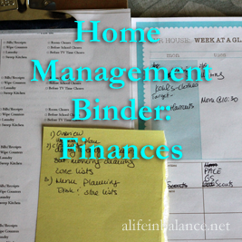 Home Management Binder: Finances