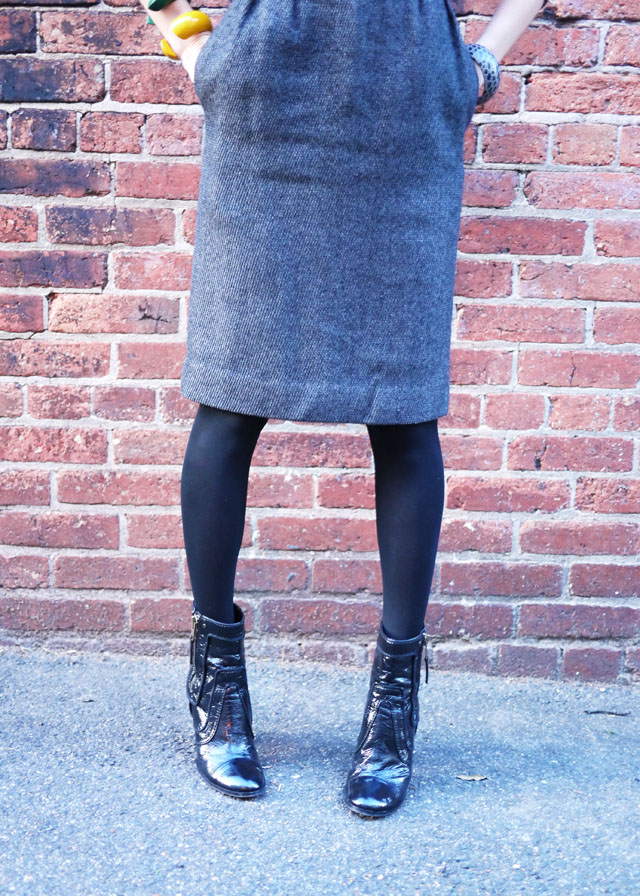 workwear stella mccartney boots vintage dior skirt my fair vanity style blog 5