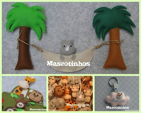 Safári do Vicenzo! by Mascotinhos em Feltro