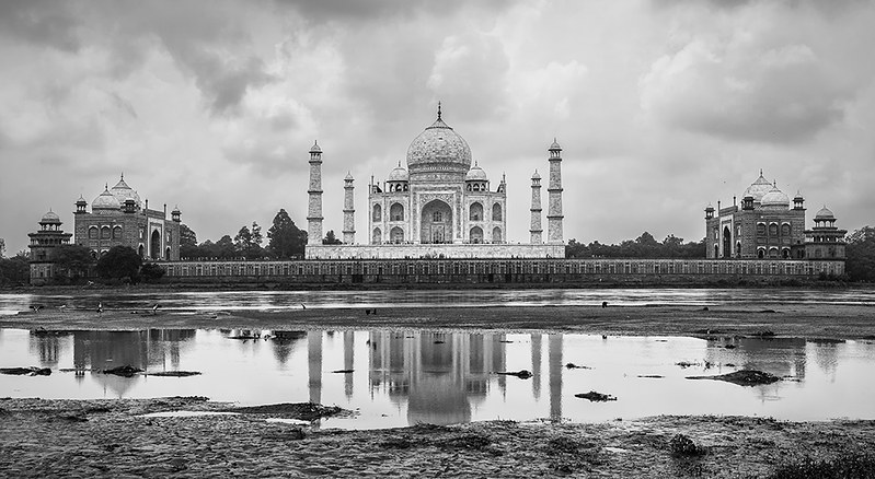Monsoon clouds over The Taj Mahal