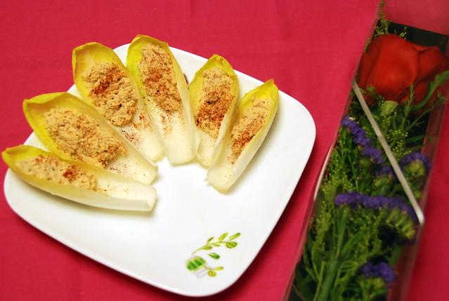 苦白菜蟹肉沙律船
