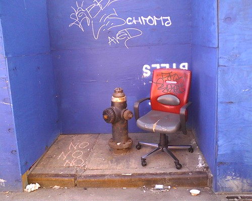 Fire Hydrant and Chair