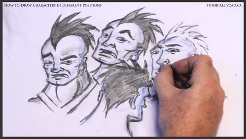 learn how to draw characters in different positions 032