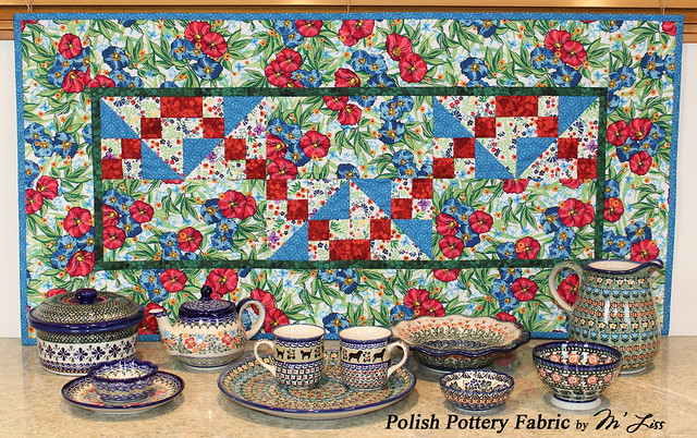 Polish Pottery Fabric By M Liss Flickr Photo Sharing