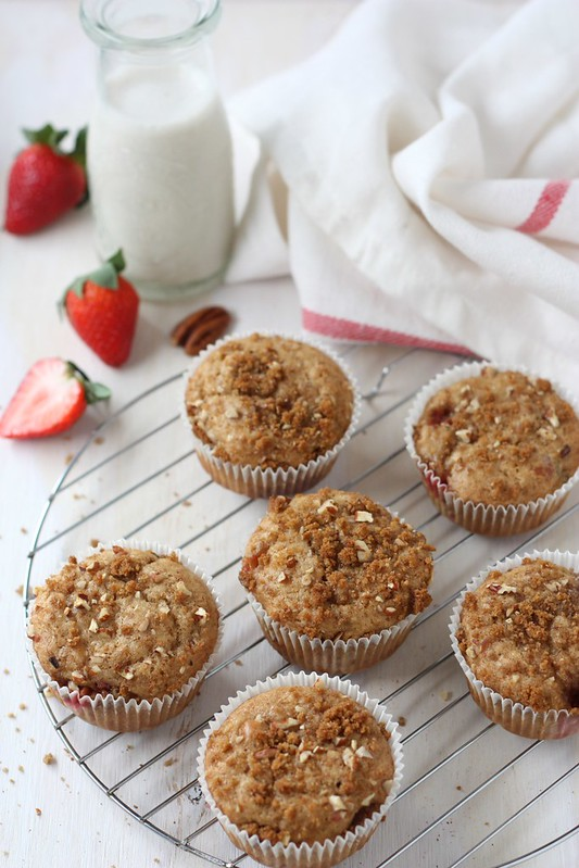 Vegan Strawberry Banana Muffins