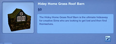 Hidey Home Grass Roof Barn