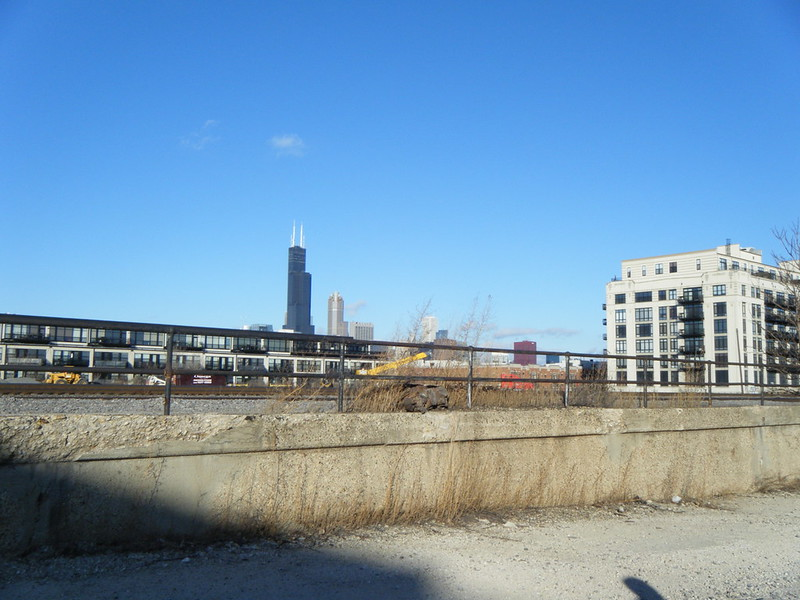 Willis Tower across the tracks