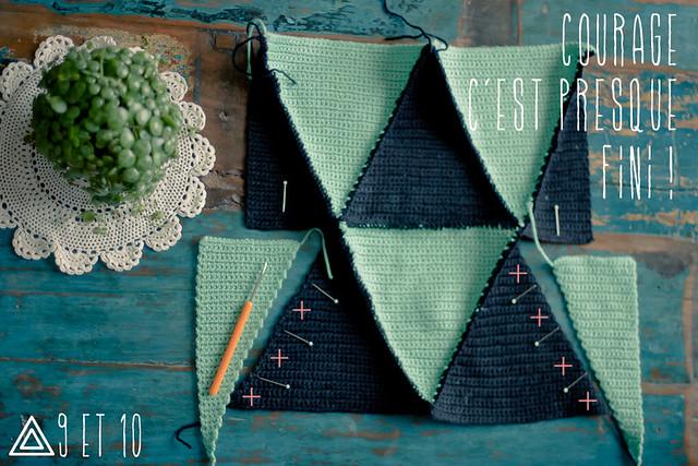 tuto coussin triangles au crochet