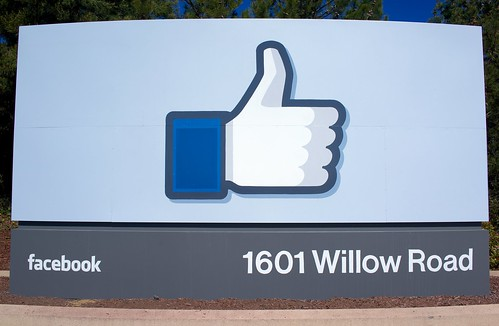 Facebook headquarters sign